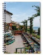 Typical Shop Display Of Ceramics For Sale In Positano, Amalfi Co Spiral Notebook