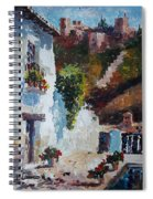 Typical Street Of Granada. Original Acrylic On Paper Spiral Notebook