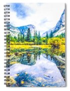 Typical View Of The Yosemite National Park Spiral Notebook
