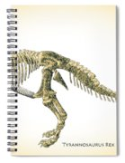 Tyrannosaurus Rex Skeleton Spiral Notebook