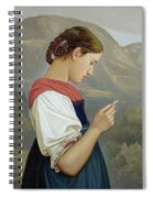 Tyrolean Girl Contemplating A Crucifix Spiral Notebook