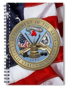 U. S. Army Seal Over American Flag. Spiral Notebook