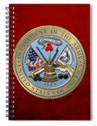 U. S. Army Seal Over Red Velvet Spiral Notebook
