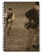 U. S. Civil War Messenger Boy On The Run Spiral Notebook