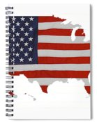 U S Map Stars N Stripes  Spiral Notebook