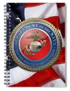 U. S. Marine Corps - U S M C Seal Over American Flag. Spiral Notebook
