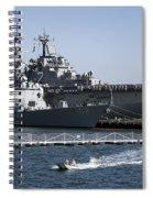 U S S Sampson And U S S Essex In San Diego Spiral Notebook