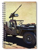 U. S.rmy Jeep With Assualt Weapons Spiral Notebook