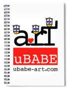 uBABE Art Wave Spiral Notebook