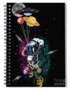 Ufo Astronaut Spaceshuttle Space Force Spiral Notebook