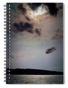 Ufo Over Lake Superior Spiral Notebook