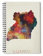 Uganda Watercolor Map Spiral Notebook
