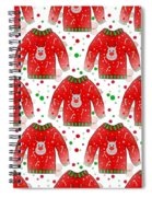 Ugly Christmas Sweater Pattern Spiral Notebook