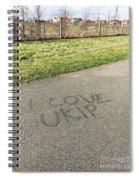 Ukip Grafitti Spiral Notebook