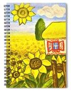 Ukrainian House With Sunflowers Spiral Notebook