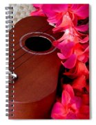 Ukulele And Red Flower Lei Spiral Notebook