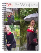 Ula And Wojtek Engagement 1 Spiral Notebook