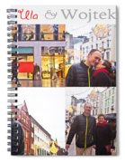 Ula And Wojtek Engagement 5 Spiral Notebook