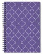 Ultra Violet Quatrefoil Spiral Notebook