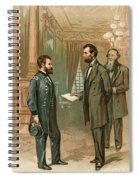 Ulysses S. Grant With Abraham Lincoln Spiral Notebook