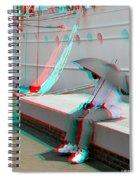 Umbrella Man - Use Red-cyan 3d Glasses Spiral Notebook