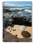 Umbrella On Beach Spiral Notebook