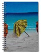 Umbrellas On The Beach Spiral Notebook