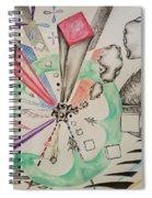 Unbalanced Dragon Spiral Notebook