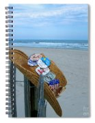 Uncle Carl's Beach Hat Spiral Notebook