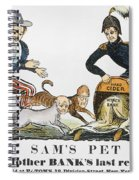 Uncle Sam: Cartoon, 1840 Spiral Notebook