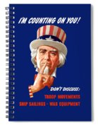 Uncle Sam - I'm Counting On You Spiral Notebook