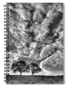Under Cover In Black And White Spiral Notebook