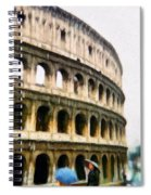 Under Pale Blue Umbrellas Spiral Notebook