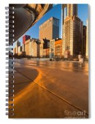 Under The Bean And Chicago Skyline At Sunrise Spiral Notebook