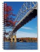 Under The Bourne Bridge Spiral Notebook
