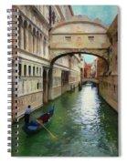 Under The Bridge Of Sighs Spiral Notebook