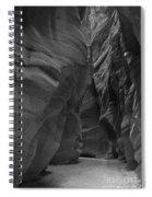 Under The Desert In Black And White Spiral Notebook