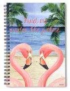 Under The Palms Spiral Notebook