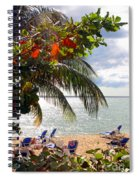 Under The Palms In Puerto Rico Spiral Notebook