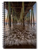 Under The Pier At Old Orchard Beach Spiral Notebook