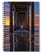 Under The Scripps Pier Spiral Notebook