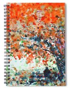 Under The Shade Of The Flamboyant Spiral Notebook
