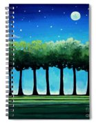 Under The Stars Spiral Notebook