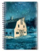 Under The Vermont Moonlight Watercolor Spiral Notebook