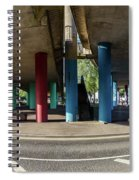 Under The Viaduct A Panoramic Urban View Spiral Notebook