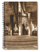 Under The Viaduct B Panoramic Urban View Spiral Notebook