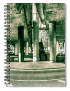 Under The Viaduct C Panoramic Urban View Spiral Notebook