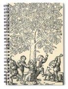 Under The Village Linden Tree Spiral Notebook