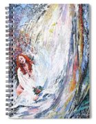 Under The Waterfall Spiral Notebook