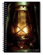 Underground Mining Lamp  Spiral Notebook